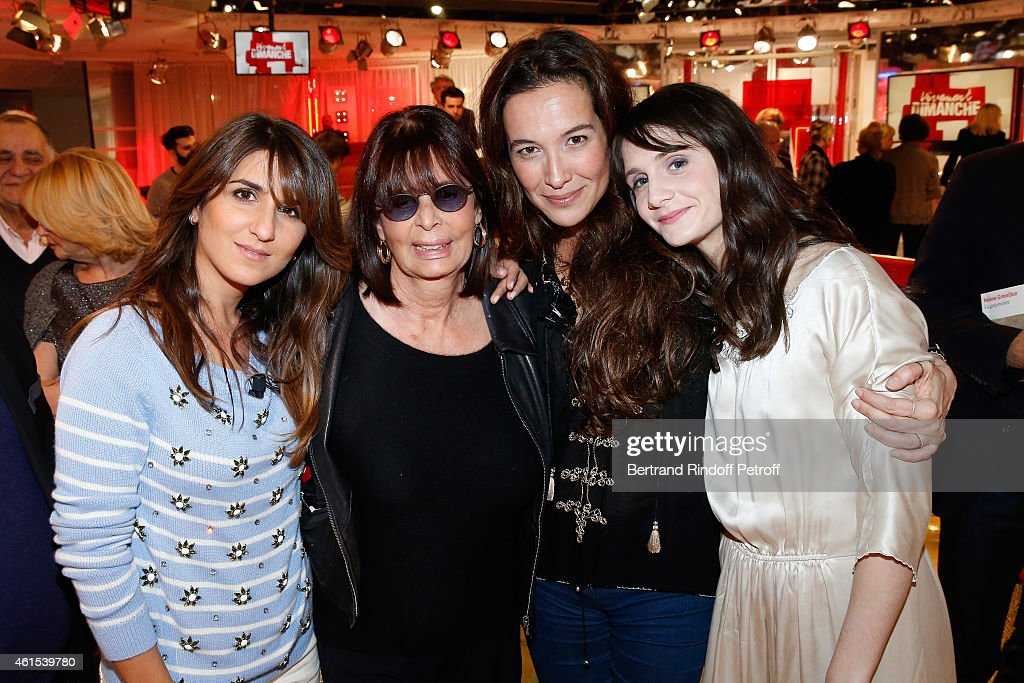 Geraldine Nakache, co-producer of the show Francoise Coquet, Yael Abecassis and <a gi-track='captionPersonalityLinkClicked' href=/galleries/search?phrase=Judith+Chemla&family=editorial&specificpeople=5350682 ng-click='$event.stopPropagation()'>Judith Chemla</a> attend the 'Vivement Dimanche' French TV Show at Pavillon Gabriel on January 14, 2015 in Paris, France.