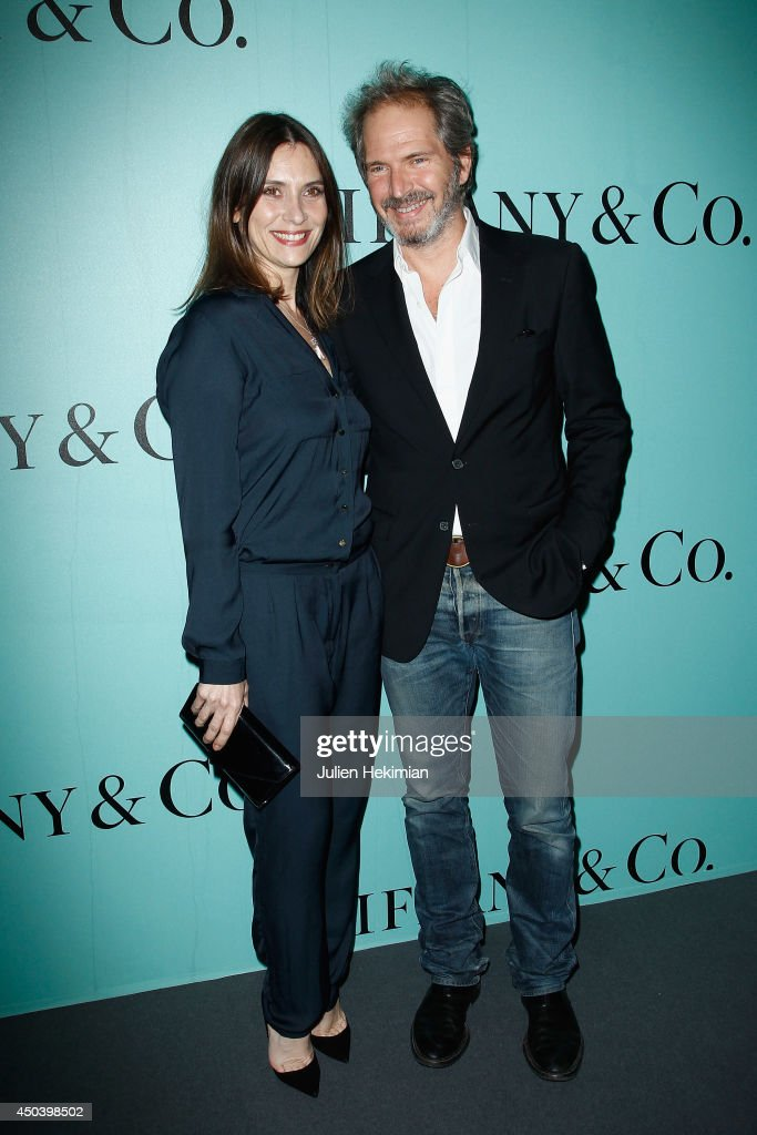 Geraldine Pailhas and Christopher Thompson attend the Tiffany & Co Flagship Opening on the Champs Elysee on June 10, 2014 in Paris, France.