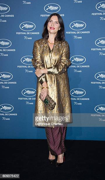 Geraldine Pailhas attends the Cannes Film Festival 70th Anniversary Party at Palais Des Beaux Arts on September 20 2016 in Paris France