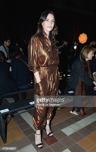 Geraldine Pailhas attends the Lanvin show as part of the Paris Fashion Week Womenswear Fall/Winter 20142015 on February 27 2014 in Paris France