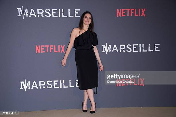 Geraldine Pailhas attends the 'Marseille' Netflix TV Serie Wold Premiere At Palais Du Pharo In Marseille on May 4 2016 in Marseille France