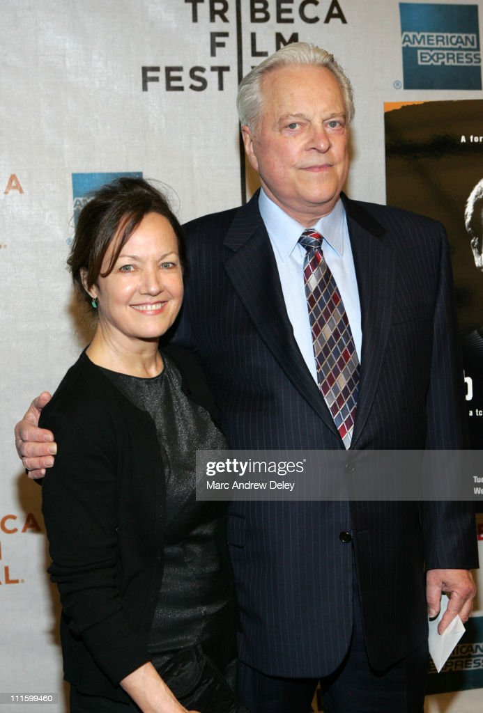 Geraldine Rubin and Robert Osborne during 6th Annual Tribeca Film Festival 'Brando' Arrivals at Michael Schimmel Center for the Arts at Pace...