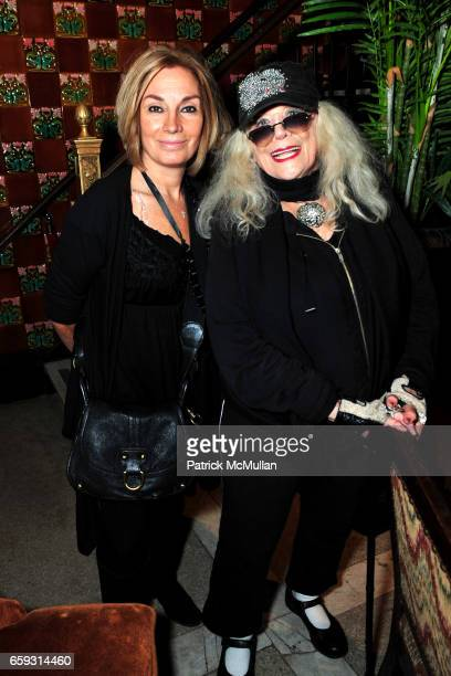 Geraldine Smith and Sylvia Miles attend Screening of CHELSEA ON THE ROCKS at The Jane Hotel on September 21 2009 in New York City