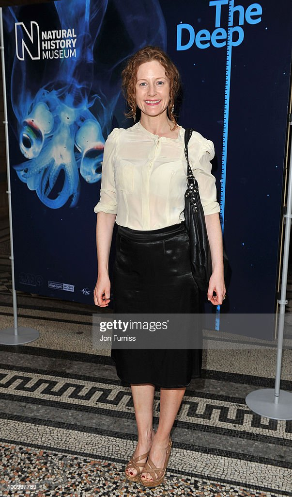 Geraldine Somerville attends the launch party for 'The Deep' exhibition at Natural History Museum on May 26, 2010 in London, England.