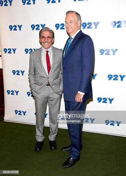 Geraldo Rivera and Bill O'Reilly attend Bill O'Reilly In Conversation With Geraldo Rivera at 92nd Street Y on June 18 2014 in New York City