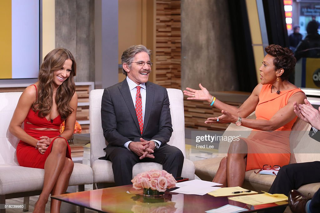 AMERICA - Geraldo Rivera and Edyta Sliwinska are guests on 'Good Morning America,' 3/29/16, airing on the ABC Television Network. EDYTA