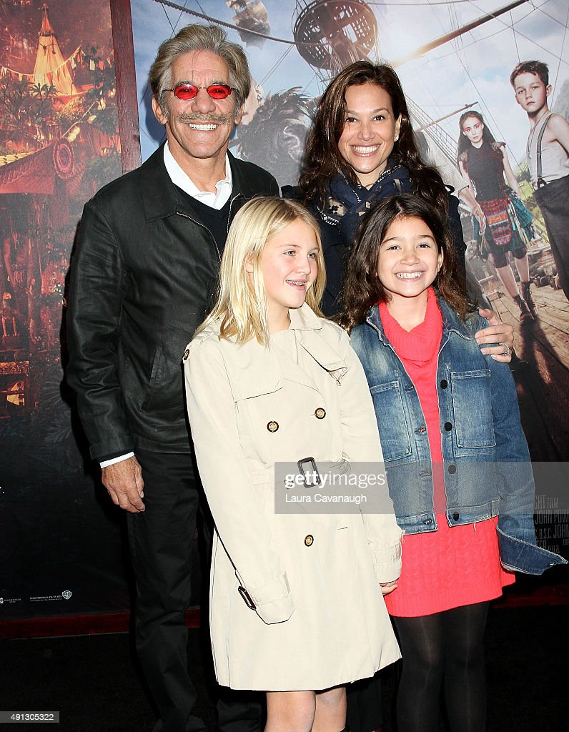 Geraldo Rivera and family attend the 'Pan' New York Premiere - Outside Arrivals at Ziegfeld Theater on October 4, 2015 in New York City.