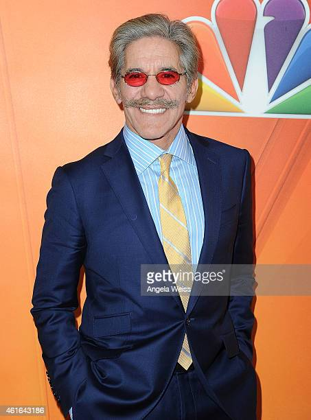 Geraldo Rivera arrives at NBCUniversal's 2015 Winter TCA Tour Day 2 at The Langham Huntington Hotel and Spa on January 16 2015 in Pasadena California