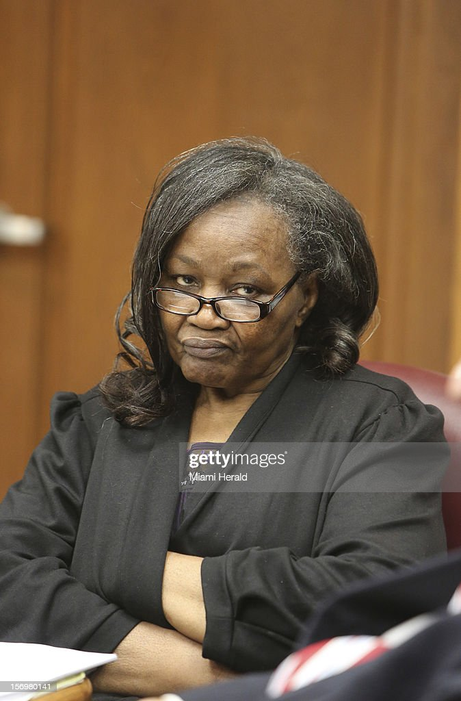 Geralyn Graham, a foster caretaker charged with abuse and murder of young Rilya Wilson, appears during her trial, Monday, November 26, 2012, in Miami, Florida.