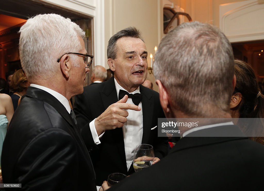 Gerard Araud, ambassador of France to the U.S., center, attends the Bloomberg Vanity Fair White House Correspondents' Association (WHCA) dinner afterparty in Washington, D.C., U.S., on Saturday, April 30, 2016. The 102nd WHCA raises money for scholarships and honors the recipients of the organization's journalism awards. Photographer: Andrew Harrer/Bloomberg via Getty Images