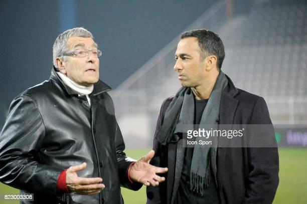 Gerard BOURGOIN Youri DJORKAEFF Auxerre / PSG 26eme journee de Ligue 1 Auxerre