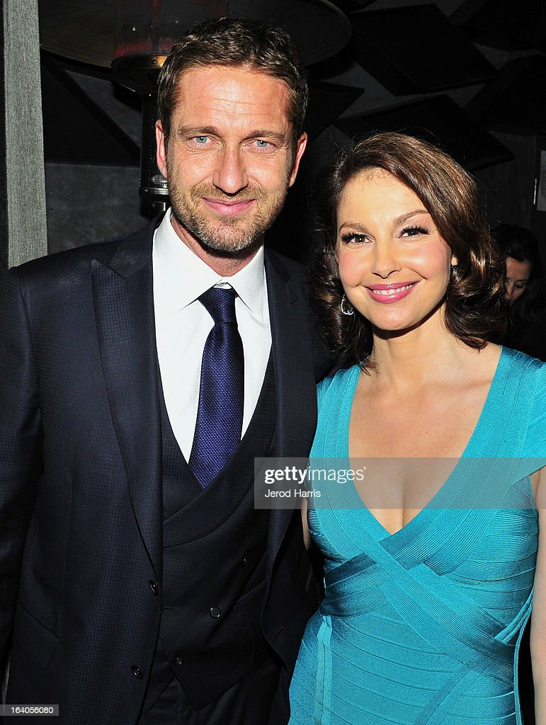 Gerard Butler and Ashley Judd attend 'Olympus Has Fallen' Premiere Reception presented by Grey Goose Vodka at Lure on March 18, 2013 in Hollywood, California.