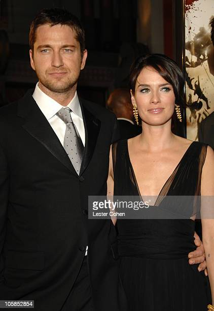 Gerard Butler and Lena Headey during '300' Los Angeles Premiere Red Carpet at Grauman's Chinese in Hollywood California United States