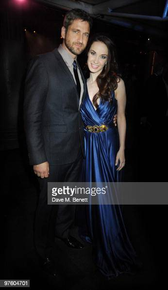 Gerard Butler and Sierra Boggess attend the afterparty following the world premiere of 'Love Never Dies' at the Old Billingsgate Market on March 9...