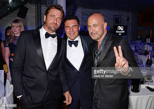 Gerard Butler Andre Balazs and John Varvatos attend an after party following the GQ Men Of The Year awards in association with Hugo Boss at The Royal...