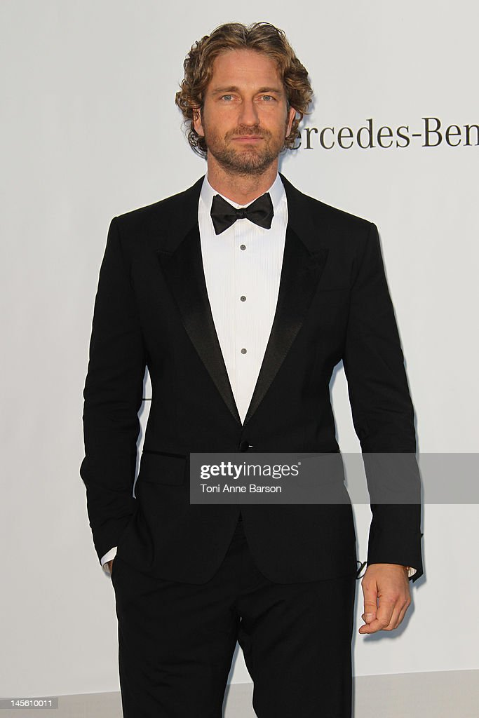 Gerard Butler arrives at amfAR's Cinema Against AIDS at Hotel Du Cap on May 24, 2012 in Antibes, France.