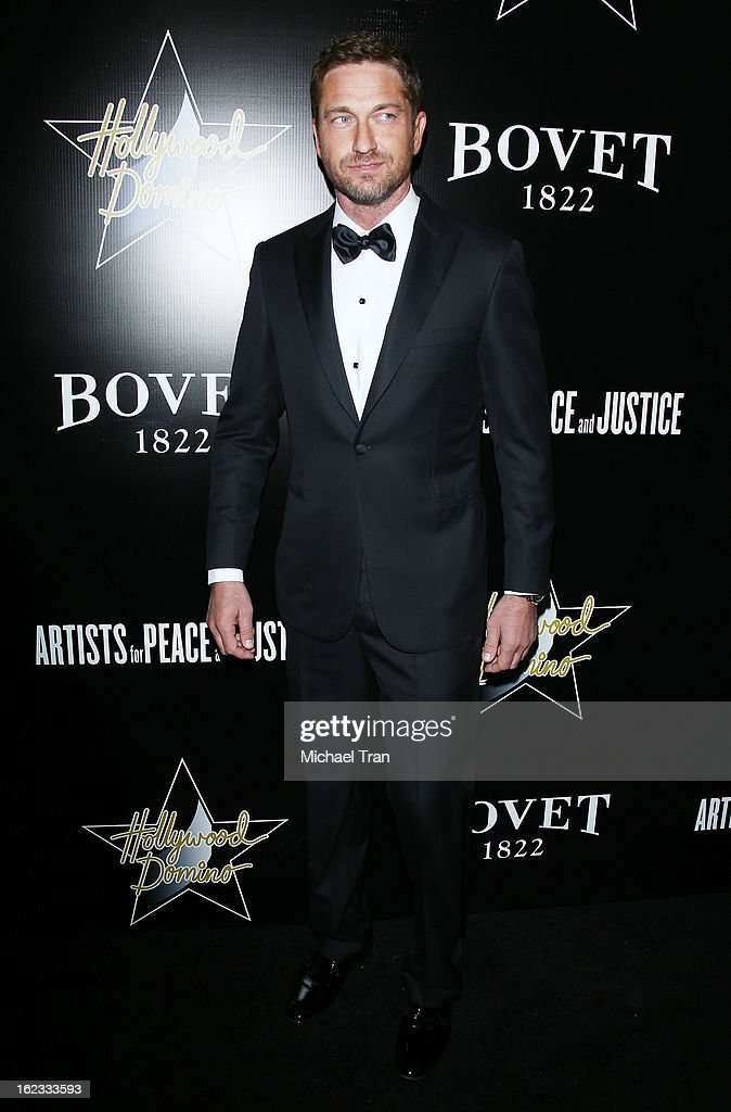 <a gi-track='captionPersonalityLinkClicked' href=/galleries/search?phrase=Gerard+Butler+-+Actor&family=editorial&specificpeople=202258 ng-click='$event.stopPropagation()'>Gerard Butler</a> arrives at the 6th Annual Hollywood Domino Pre-Oscar Gala & Tournament held at Sunset Tower on February 21, 2013 in West Hollywood, California.