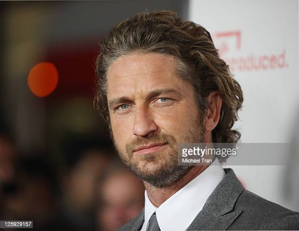 Gerard Butler arrives at the Los Angeles premiere of 'Machine Gun Preacher' at the Academy of Motion Picture Arts and Sciences on September 21 2011...