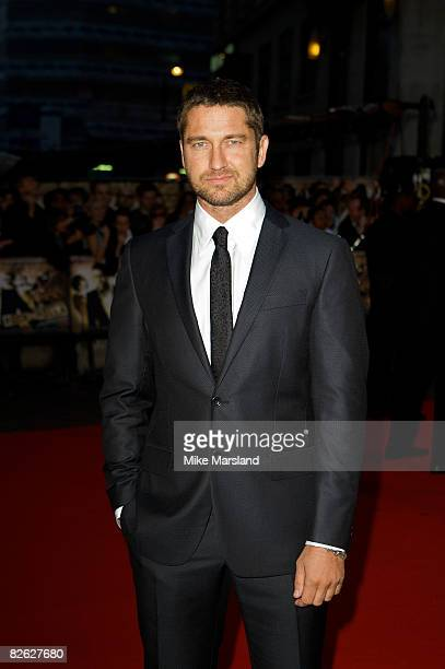 Gerard Butler arrives at the World Premiere of 'RocknRolla' at the Odeon West End on September 1 2008 in London United Kingdom