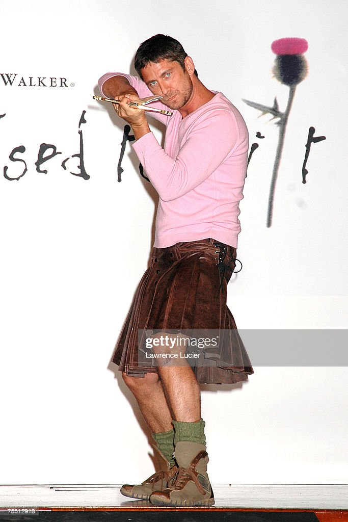 Gerard Butler at the Johnnie Walker Presents 'Dressed to Kilt' Arrivals and Runway at Copacabana in New York City New York