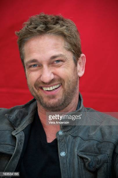 Gerard Butler at the 'Olympus Has Fallen' Press Conference at the Waldorf Astoria Hotel on March 9 2013 in New York City