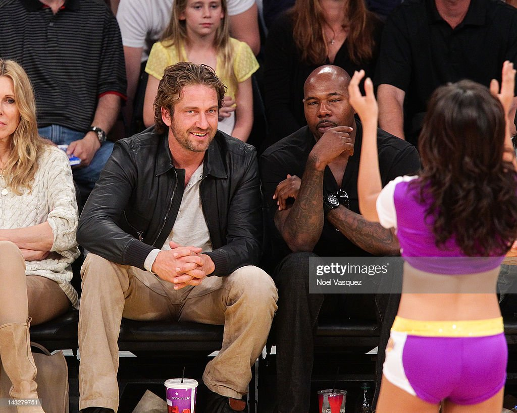 <a gi-track='captionPersonalityLinkClicked' href=/galleries/search?phrase=Gerard+Butler+-+Actor&family=editorial&specificpeople=202258 ng-click='$event.stopPropagation()'>Gerard Butler</a> attends a basketball game between the Oklahoma City Thunder and the Los Angeles Lakers at Staples Center on April 22, 2012 in Los Angeles, California.