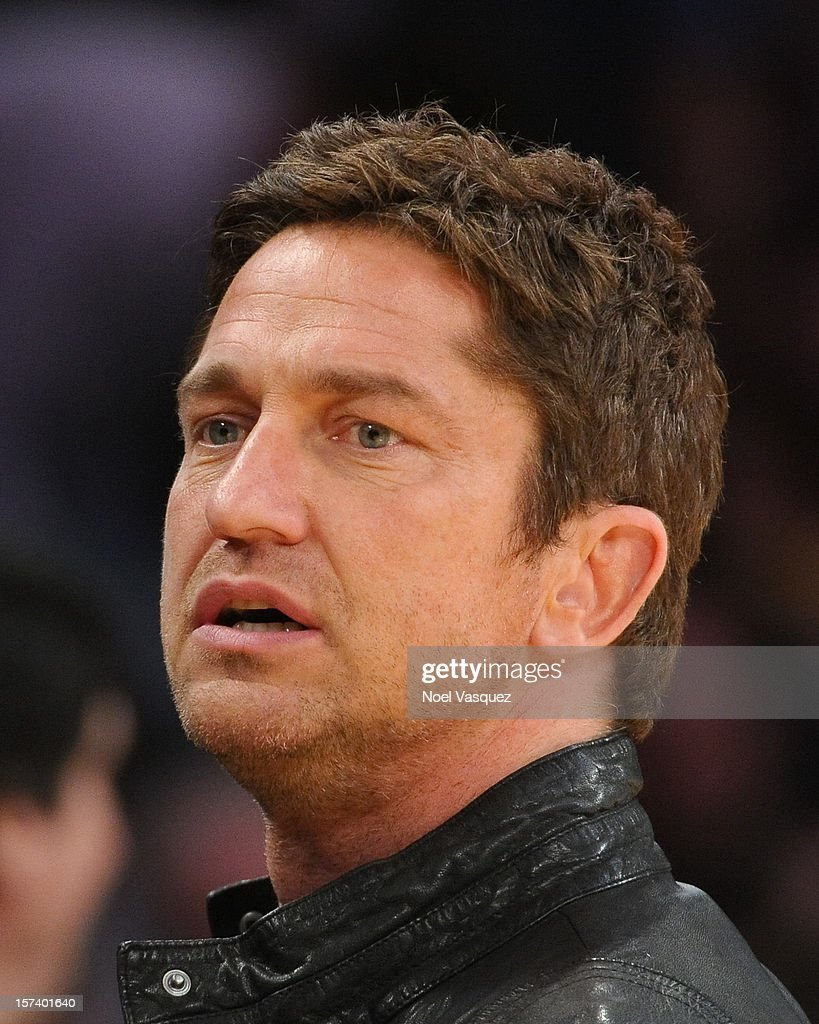 Gerard Butler attends a basketball game between the Orlando Magic and the Los Angeles Lakers at Staples Center on December 2, 2012 in Los Angeles, California.