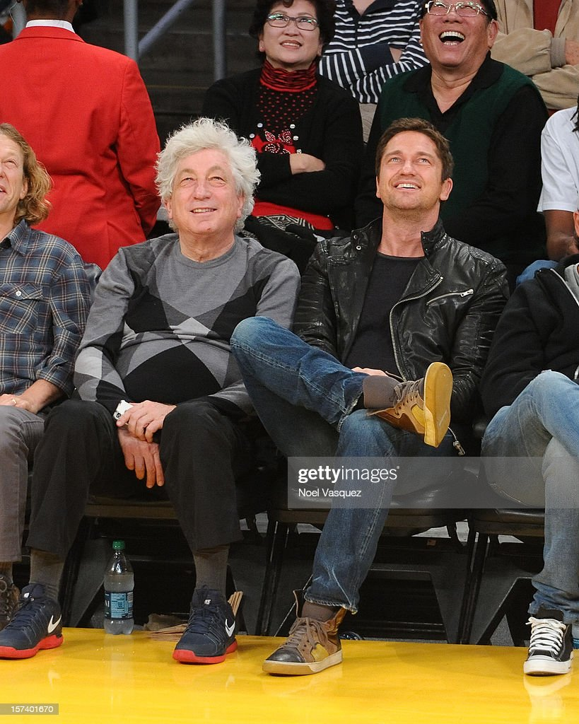 <a gi-track='captionPersonalityLinkClicked' href=/galleries/search?phrase=Gerard+Butler+-+Actor&family=editorial&specificpeople=202258 ng-click='$event.stopPropagation()'>Gerard Butler</a> attends a basketball game between the Orlando Magic and the Los Angeles Lakers at Staples Center on December 2, 2012 in Los Angeles, California.