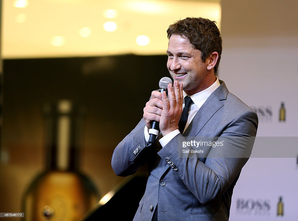 Gerard Butler attends a photocall for Hugo Boss on March 20, 2015 in ...