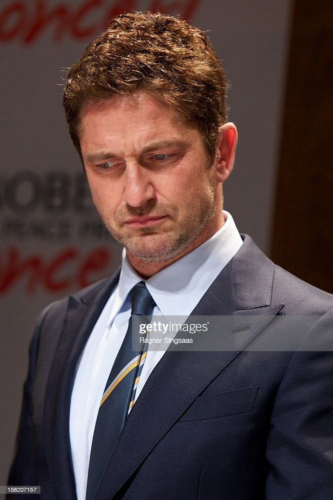 <a gi-track='captionPersonalityLinkClicked' href=/galleries/search?phrase=Gerard+Butler+-+Actor&family=editorial&specificpeople=202258 ng-click='$event.stopPropagation()'>Gerard Butler</a> attends a press conference ahead of the Nobel Peace Prize Concert at Radisson Blu Plaza Hotel on December 11, 2012 in Oslo, Norway.