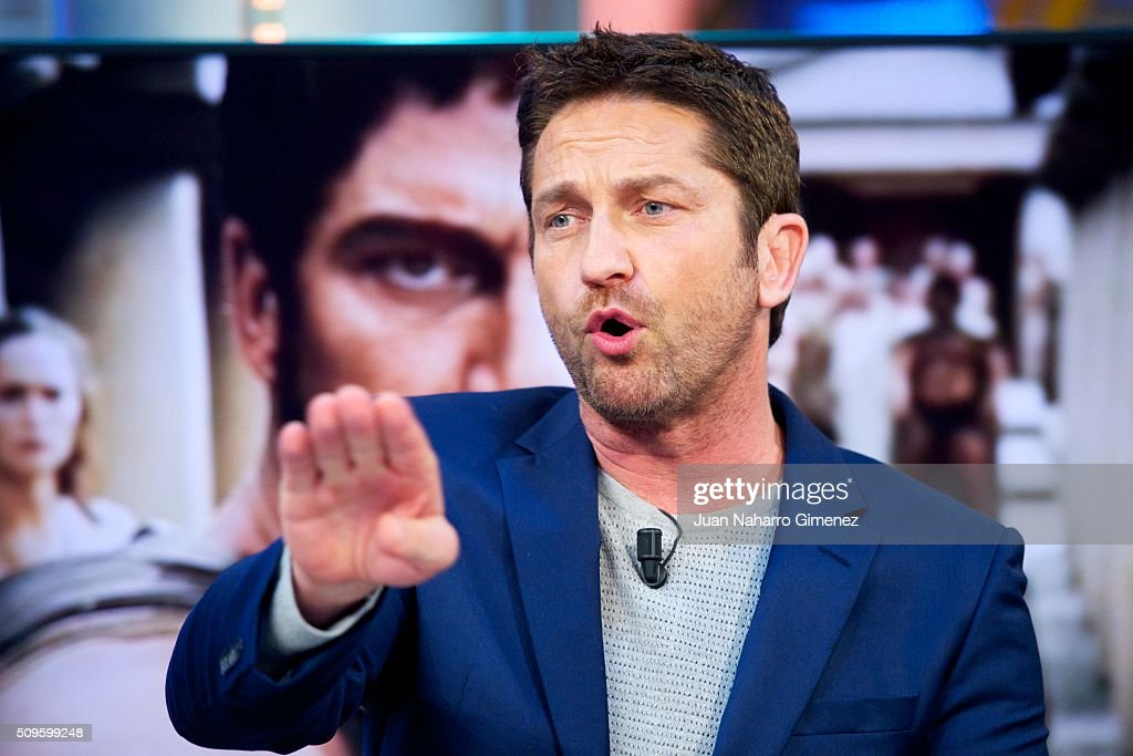 Gerard Butler attends 'El Hormiguero' Tv show at Vertice Studio on ...