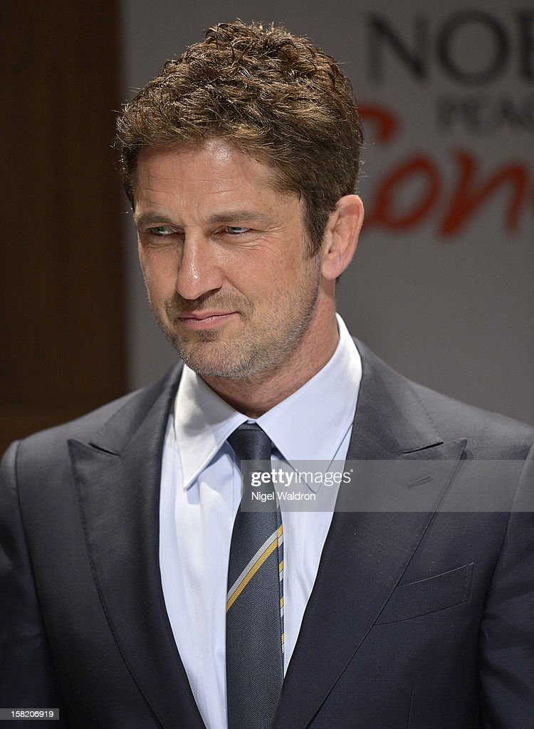 <a gi-track='captionPersonalityLinkClicked' href=/galleries/search?phrase=Gerard+Butler+-+Actor&family=editorial&specificpeople=202258 ng-click='$event.stopPropagation()'>Gerard Butler</a> attends the 2012 Nobel Peace Prize Concert press conference at Radisson Blu Plaza Hotel on December 11, 2012 in Oslo, Norway.