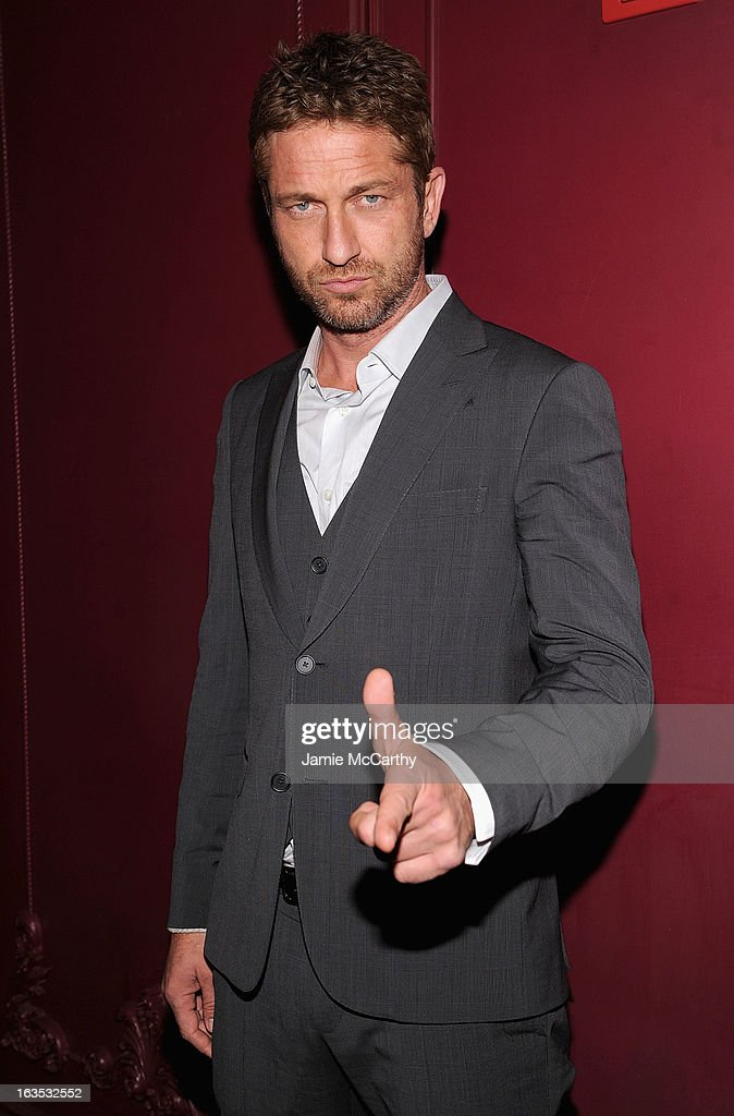 <a gi-track='captionPersonalityLinkClicked' href=/galleries/search?phrase=Gerard+Butler&family=editorial&specificpeople=202258 ng-click='$event.stopPropagation()'>Gerard Butler</a> attends the after party for The Cinema Society with Roger Dubuis and Grey Goose screening of FilmDistrict's 'Olympus Has Fallen' at The Darby on March 11, 2013 in New York City.