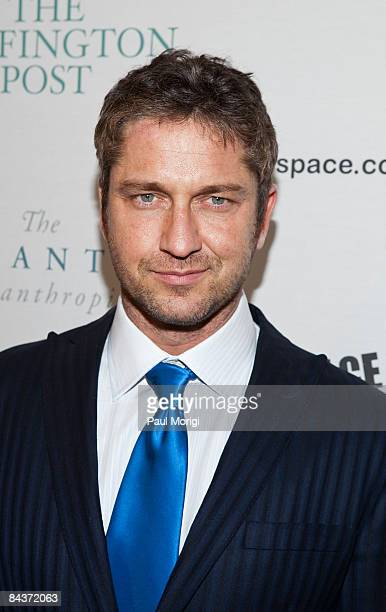 Gerard Butler attends The Huffington Post preinaugural ball at the Newseum on January 19 2009 in Washington DC