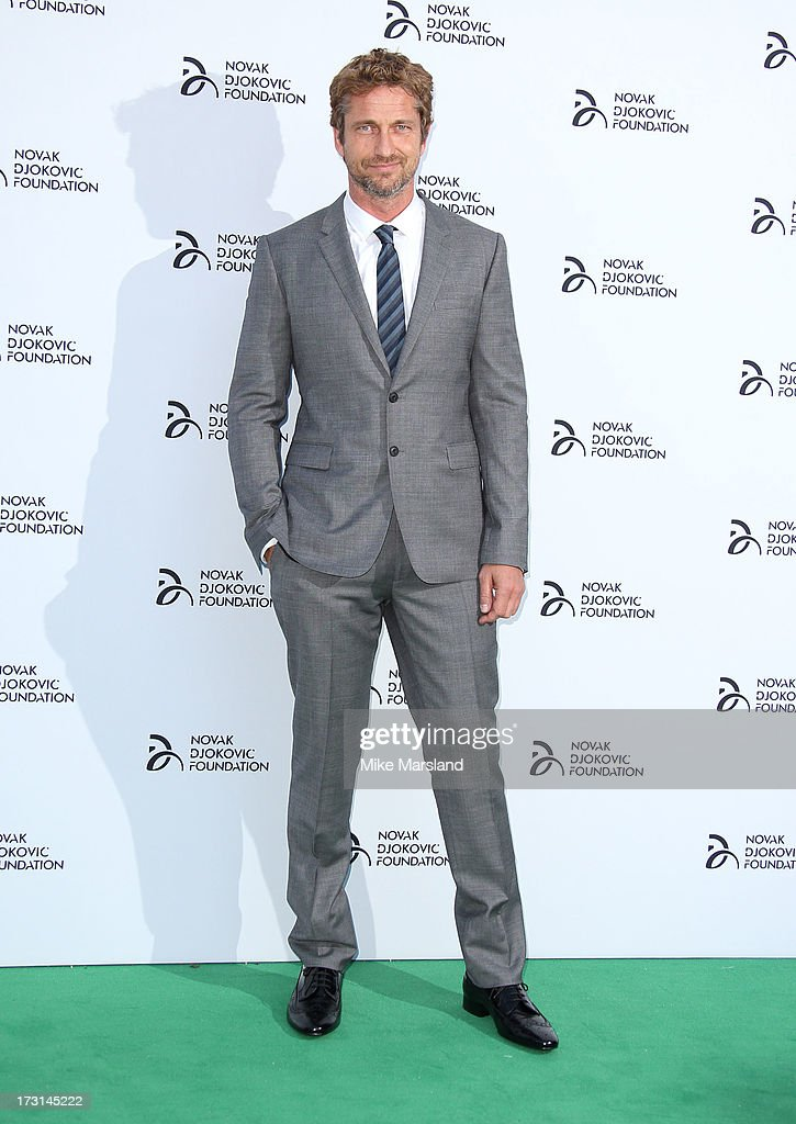 <a gi-track='captionPersonalityLinkClicked' href=/galleries/search?phrase=Gerard+Butler+-+Actor&family=editorial&specificpeople=202258 ng-click='$event.stopPropagation()'>Gerard Butler</a> attends the Novak Djokovic Foundation London gala dinner at The Roundhouse on July 8, 2013 in London, England.