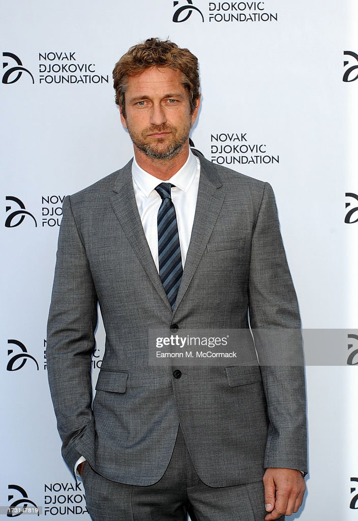 Gerard Butler attends the Novak Djokovic Foundation London gala dinner at The Roundhouse on July 8 2013 in London England