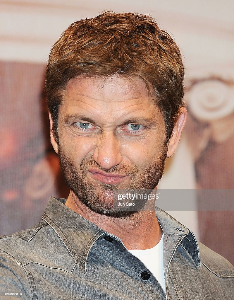<a gi-track='captionPersonalityLinkClicked' href=/galleries/search?phrase=Gerard+Butler+-+Actor&family=editorial&specificpeople=202258 ng-click='$event.stopPropagation()'>Gerard Butler</a> attends the 'Olympus Has Fallen' Press Conference at Park Hyatt on May 28, 2013 in Tokyo, Japan. The film will open on June 8 in Japan.