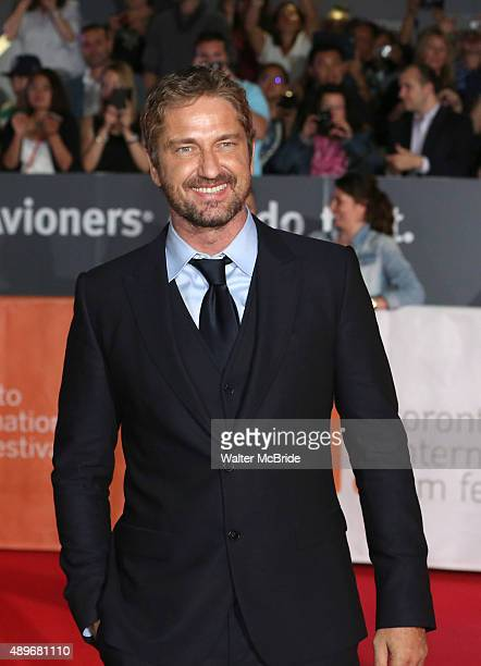 Gerard Butler attends the 'Septembers of Shiraz' premiere during the 2015 Toronto International Film Festival at the Roy Thomson Theatre on September...