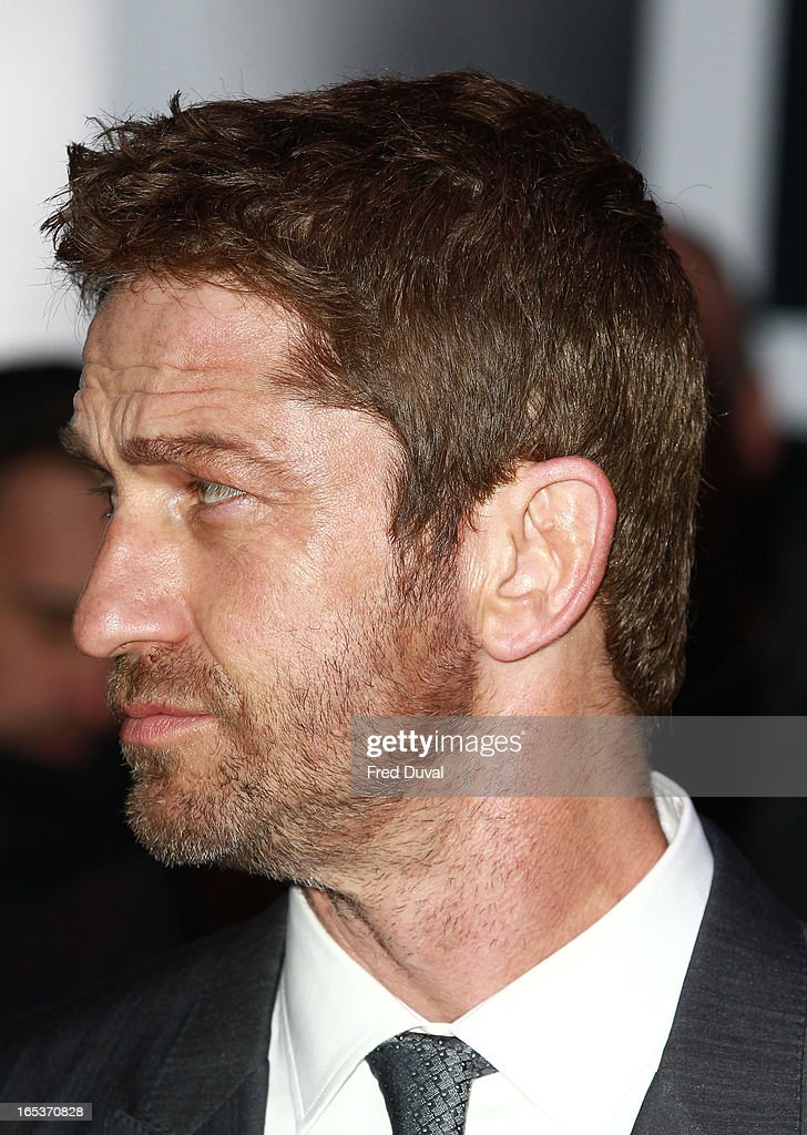 <a gi-track='captionPersonalityLinkClicked' href=/galleries/search?phrase=Gerard+Butler+-+Actor&family=editorial&specificpeople=202258 ng-click='$event.stopPropagation()'>Gerard Butler</a> attends the UK Premiere of 'Olympus Has Fallen' at BFI IMAX on April 3, 2013 in London, England.