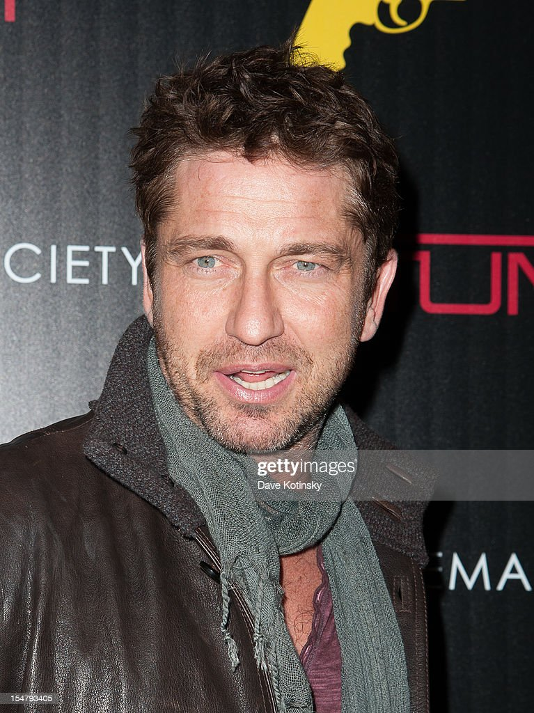 Gerard Butler attends The Weinstein Company With The Cinema Society And Tumi Host A Screening Of 'This Must Be the Place' at Tribeca Grand Hotel on October 25, 2012 in New York City.