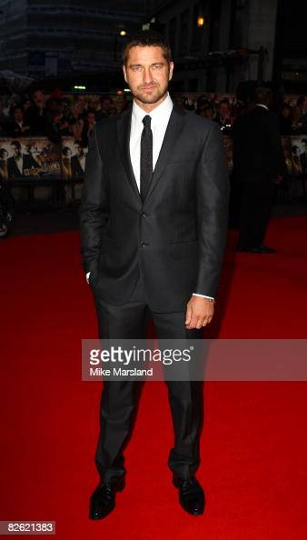 Gerard Butler attends the world premiere of RocknRolla at Odeon West End on September 1 2008 in London England