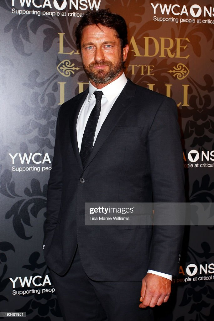 Gerard Butler attends the YMCA Mother of All Balls at Town Hall on May 24 2014 in Sydney Australia