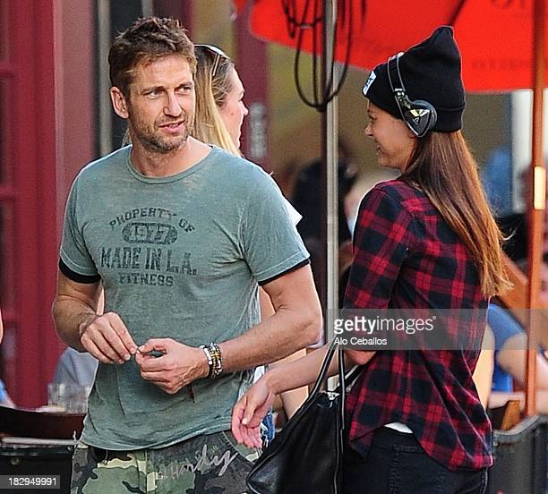 Gerard Butler is seen in the Meat Packing District on October 2 2013 in New York City