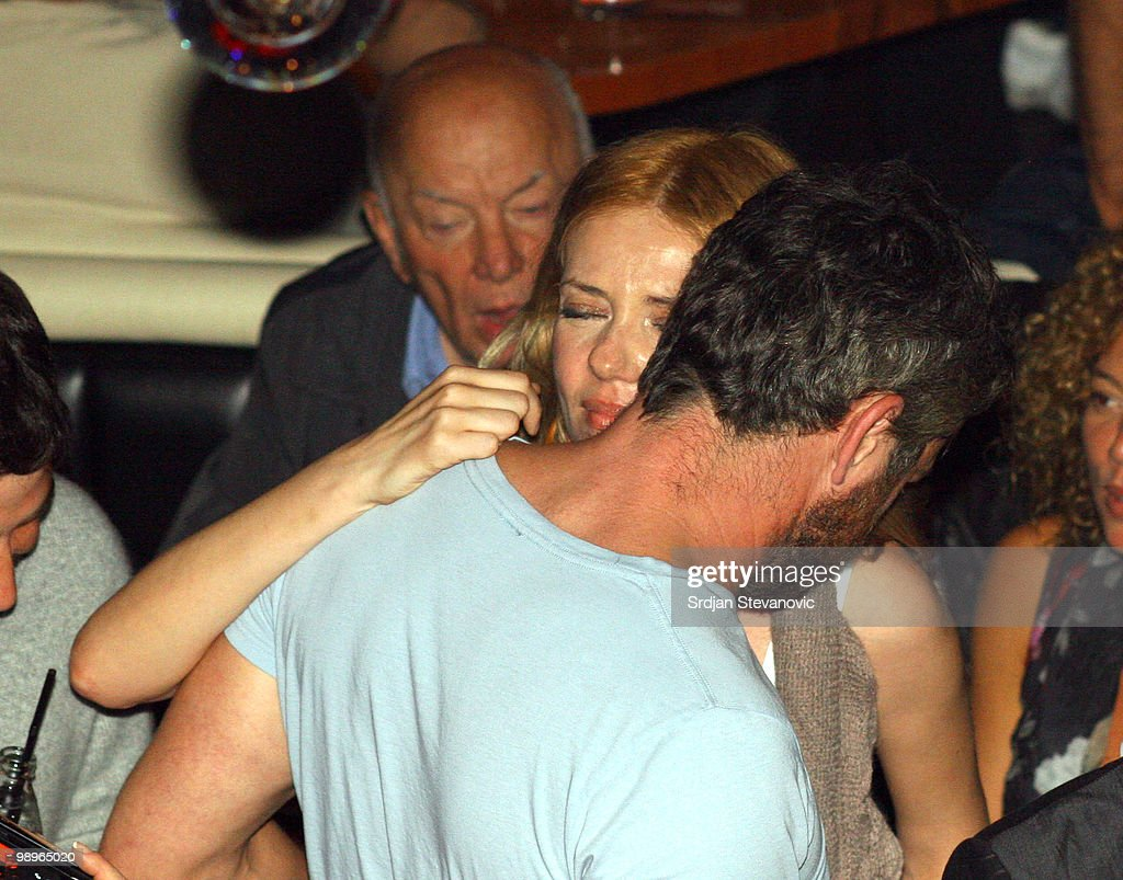Gerard Butler is sighted with an unidentified woman at a party at the Cinema nightclub on May 10 2010 in Belgrade Serbia