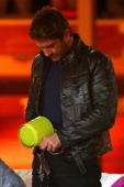 Gerard Butler performes during the 'Wetten dass' TV show presented by host Markus Lanz at Plaza de Toros de Palma Coliseo Balear on June 8 2013 in...