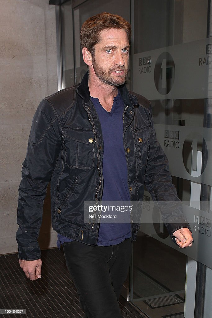 <a gi-track='captionPersonalityLinkClicked' href=/galleries/search?phrase=Gerard+Butler+-+Actor&family=editorial&specificpeople=202258 ng-click='$event.stopPropagation()'>Gerard Butler</a> seen at BBC Radio One on April 4, 2013 in London, England.