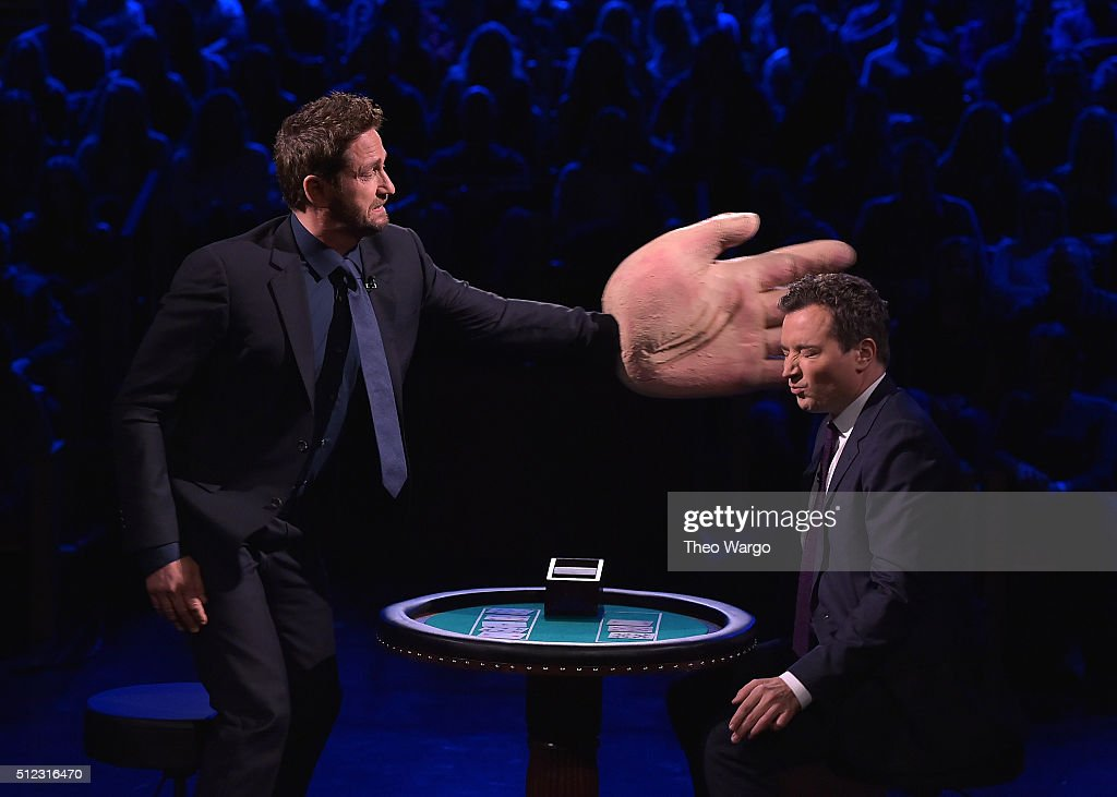 Gerard Butler Visits 'The Tonight Show Starring Jimmy Fallon' at NBC Studios on February 25 2016 in New York City