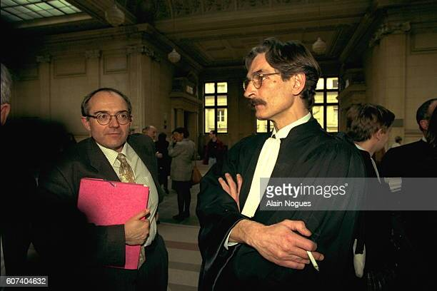 Gerard Chauvy and one of his lawyers
