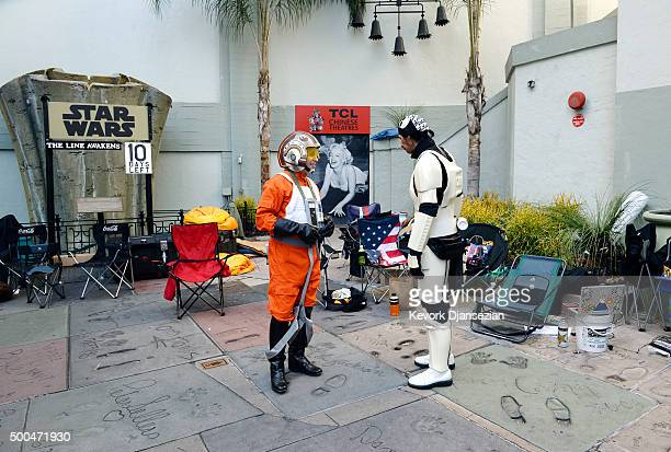 Gerard Christian Zacher dressed in the uniform of 'Star Wars' character Luke Skywalker and Roland Olivares dressed as 'Star Wars' character...