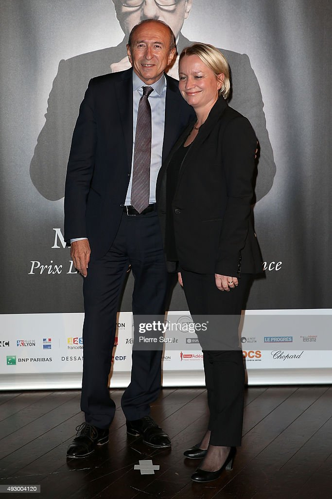 <a gi-track='captionPersonalityLinkClicked' href=/galleries/search?phrase=Gerard+Collomb&family=editorial&specificpeople=672969 ng-click='$event.stopPropagation()'>Gerard Collomb</a> and his wife Caroline attends the Tribute to Martin Scorsese as part of the 7th Film Festival Lumiere on October 16, 2015 in Lyon, France.